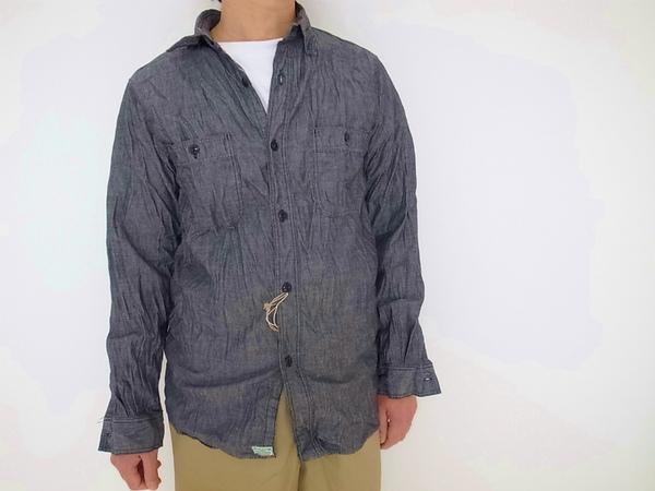 orslow BLACK SHAMBRAY WORK SHIRT (オアスロー ブラックシャンブレーワークシャツ)