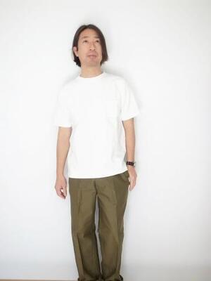 Jackman Dotume Poket T-shirt OFF WHITE