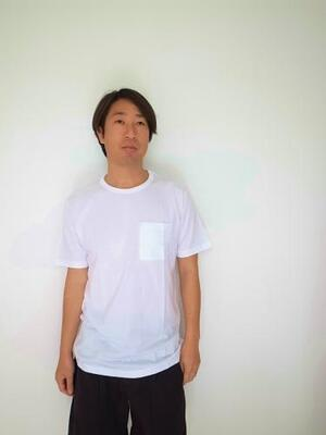 pyjamaclothing メンズ S/S CREW NECK POKET TEE WHITE