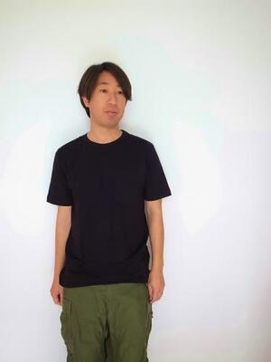 pyjamaclothing メンズ S/S CREW NECK POKET TEE BLACK