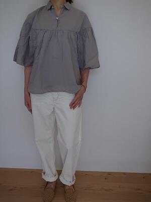 Brocante ケープシャツ  LIGHT GRAY
