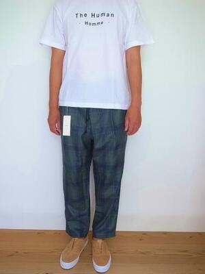HEALTH ヘルス Easy pants #2 Green Check