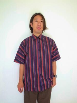 HEALTH ヘルス SUMMER SHIRTS ♯1 BLACK×REDSTRIPE