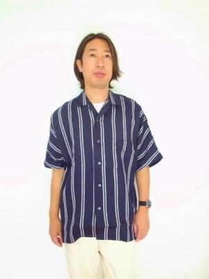 HEALTH ヘルス SUMMER SHIRTS ♯2 NAVY×WHITESTRIPE
