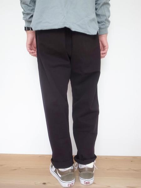 GRAMICCI LOOSE TAPERED PANTS BLACK