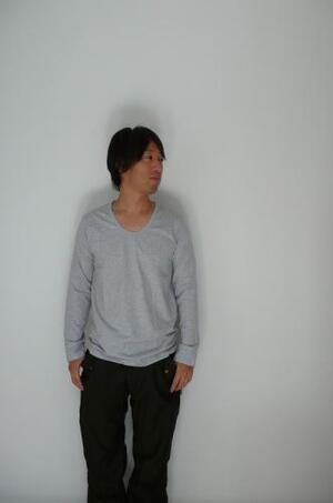 pyjamaclothing メンズ L/S U NECK GRAY