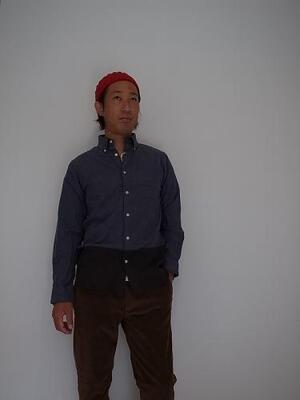 unus entil  起毛TOP糸 B.D 切り替えシャツ