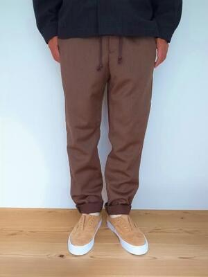 HEALTH ヘルス Easy pant ♯1 BROWN