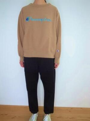Champion REVERSE WEAVE CREW NECK SWEATSHIRT モカ