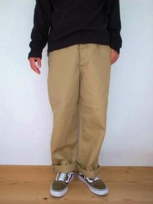 orslowメンズVINTAGE FIT FATIGUE TROUSERS
